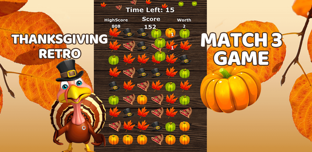 Thanksgiving Retro Match 3 Game
