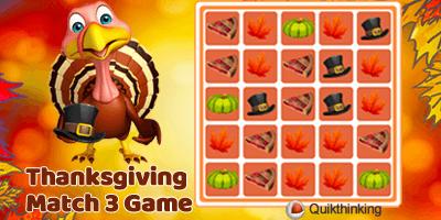 Thanksgiving Match 3 Game